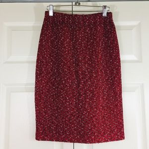 St. John Collection textured pull-on knit skirt